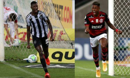 Matheus Babi do Botafogo e Bruno Henrique do Flamengo