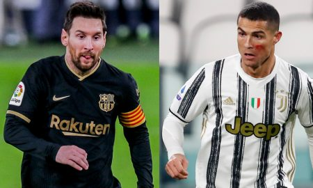 Messi do Barcelona e Cristiano Ronaldo CR7 da Juventus