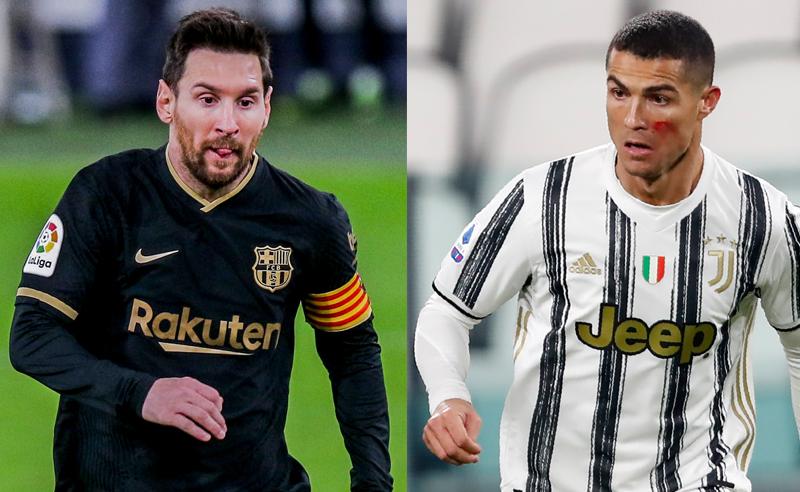 Messi do Barcelona e Cristiano Ronaldo CR7 da Juventus