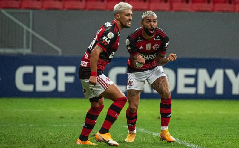 Arrascaeta e Gabigol do Flamengo