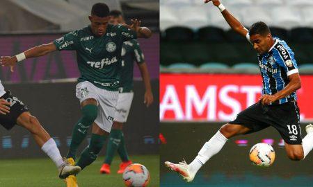 Danilo do Palmeiras e Isaque Elias do Grêmio