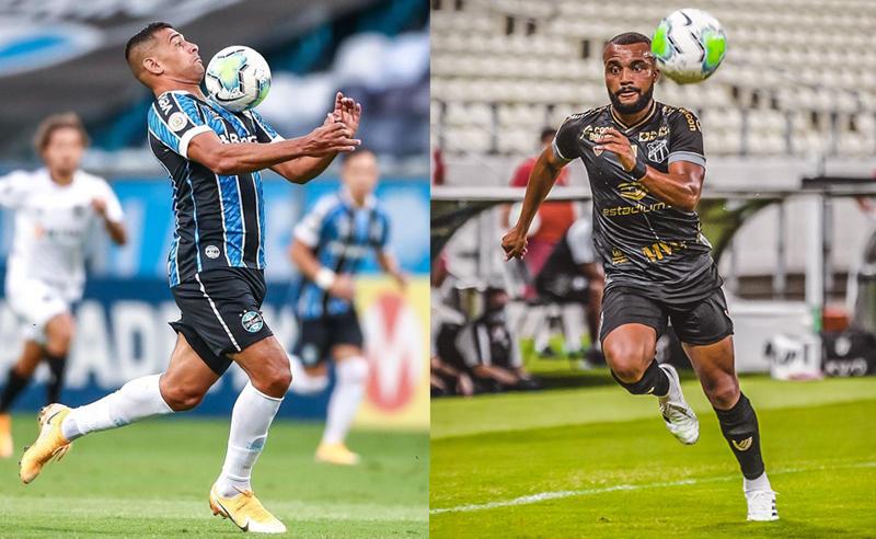 Diego Souza do Gremio e Samuel Brito do Ceará