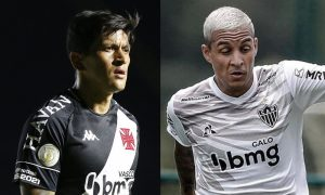 German Cano do Vasco e Guilherme Arana do Atlético-MG