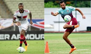 Gerson do Flamengo e Nene do Fluminense