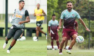 Jo do Corinthians e Yago Felipe do Fluminense