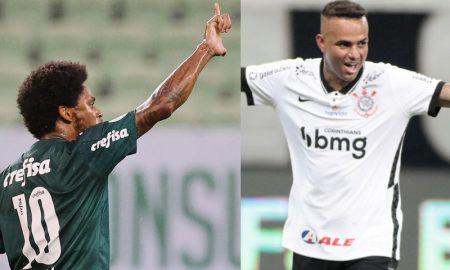Luiz Adriano do Palmeiras e Luan Guilherme do Corinthians