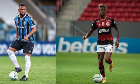 Maicon do Grêmio e Bruno Henrique do Flamengo