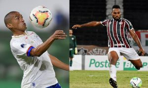 Nino Paraiba do Bahia e Luccas Claro do Fluminense