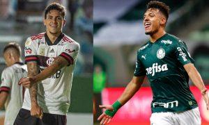 Pedro do Flamengo e Gabriel Menino do Palmeiras