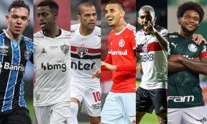 Pepe Gremio Keno CAM Dani Alves SPFC Galhardo Internacional Gabigol Flamengo Luiz Adriano Palmeiras