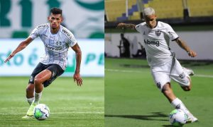 Rodrigues do Gremio e Guilherme Arana do Atlético-MG