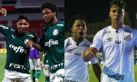 Rony e Luiz Adriano do Palmeiras Marinho e Kaio Jorge do Santos