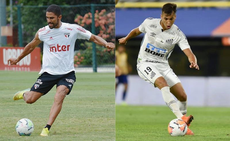 Trellez Vivero do São Paulo e Kaio Jorge do Santos