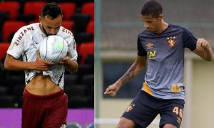 Yago Felipe do Fluminense e Luciano Juba do Sport-RE