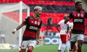 Arrascaeta e Bruno Henrique do Flamengo