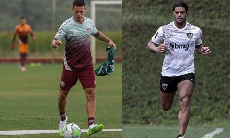 Calegari do Fluminense e Hulk Paraiba do Atlético-MG