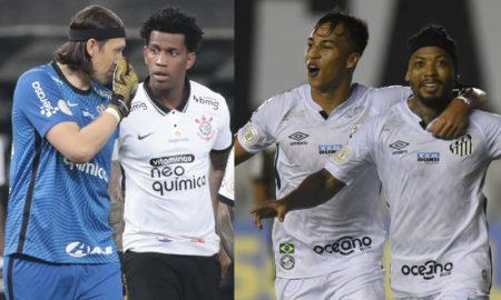 Cassio e Gil do Corinthians Kaio Jorge e Marinho do Santos