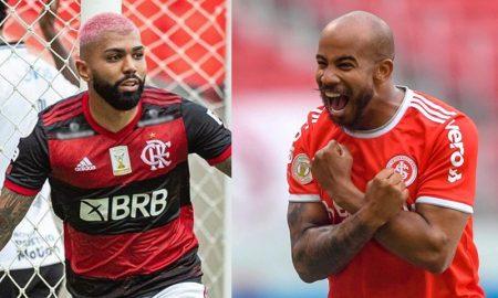 Gabriel Gabigol do Flamengo e Patrick Choco do Internacional