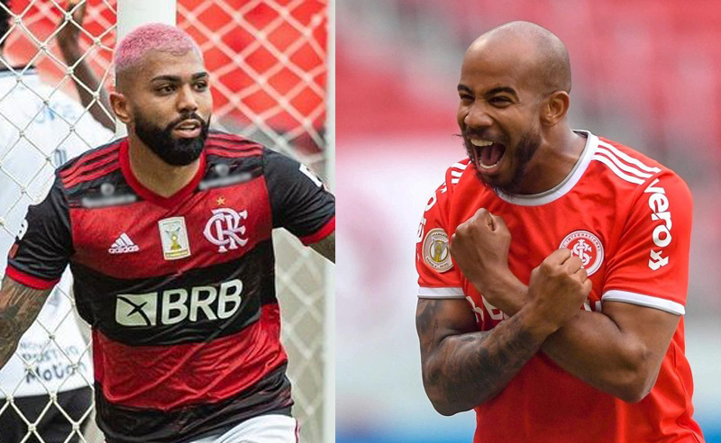 Gabriel Gabigol do Flamengo e Patrick Choco do Internacional