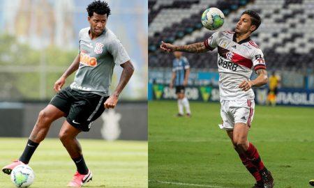 Gil do Corinthians e Pedro do Flamengo