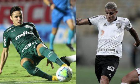Gustavo Gomez do Palmeiras e Guilherme Arana do Atlético-MG