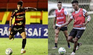 Jogador do Sport-RE e Keno do Atlético-MG