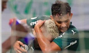 Lucas Lima e Gustavo Scarpa do Palmeiras