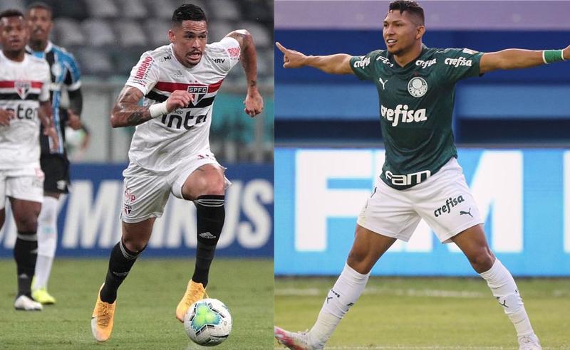 Luciano do São Paulo e Rony do Palmeiras
