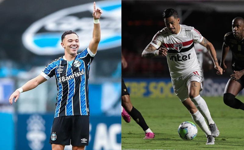 Pepe do Grêmio e Luciano do São Paulo