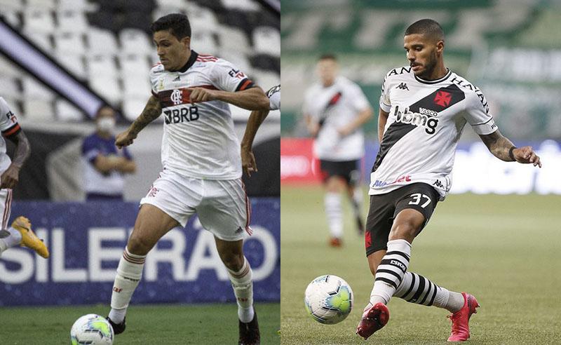 Jogadores do Flamengo e Vasco