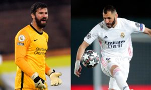 Alisson do Liverpool e Benzema do Real Madrid