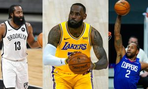James Harden Brooklyn Nets LeBron James Los Angeles Lakers Kawhi Leonard Los Angeles Clippers