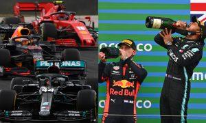 Max Verstappen da Red Bull e Lewis Hamilton da Mercedes F1