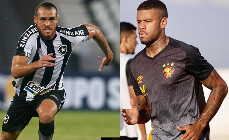 Pedro Castro do Botafogo e Junior Tavarez do Sport