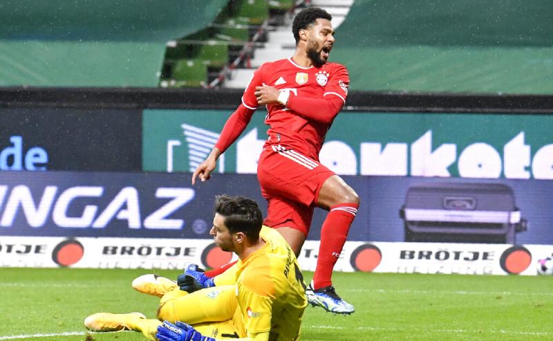 Serge Gnabry do Bayern de Munique