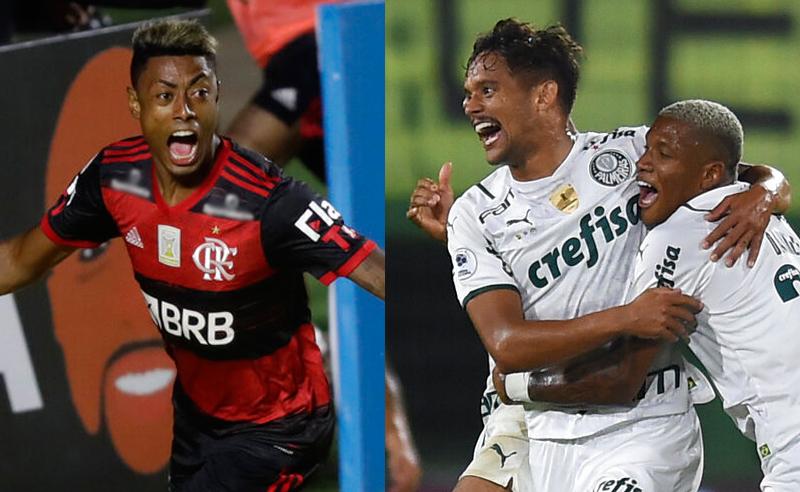 B. Henrique Flamengo e G. Scarpa Palmeiras