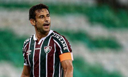 Fred do Fluminense marca gol na Libertadores contra o River Plate