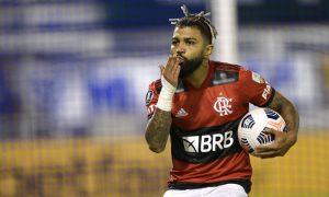 Gabriel Barbosa Gabigol Flamengo faz gol contra o Vélez