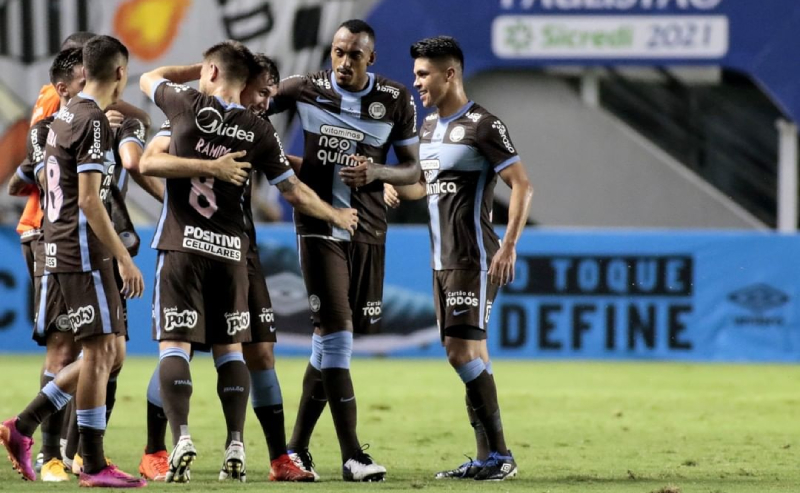 Gol do Corinthians contra o Santos 28-04-2021