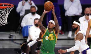 NBA Jordan Clarkson do Utah Jazz 19 Abril 2021