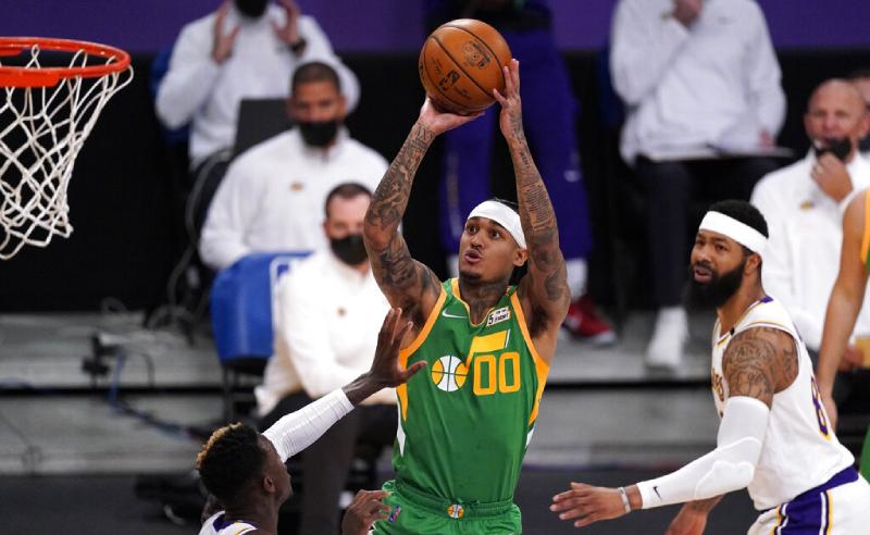 NBA Jordan Clarkson do Utah Jazz 19 Abril 2021