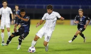 Lucas Silva do Gremio Pré-Libertadores contra Independiente del Valle