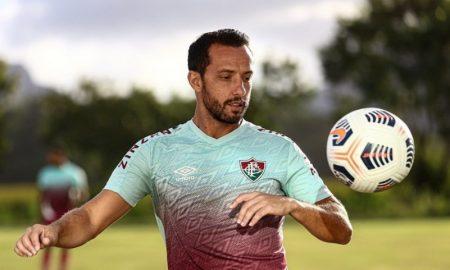Nenê, jogador do Fluminense treina para a Libertadores 2021