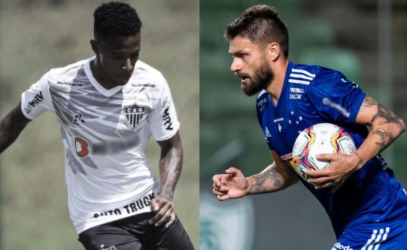 Tche Tche do Atlético-MG e Rafael Sóbis do Cruzeiro