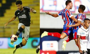 Tiago Reis do Vasco e Time do Bahia