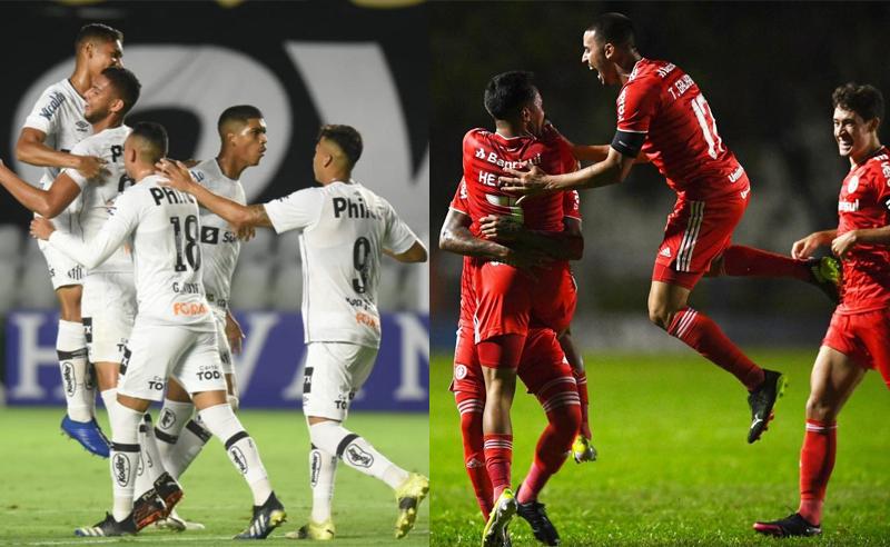 Time do Santos e time do Internacional