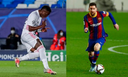 Vinicius Jr Real Madrid Messi Barcelona