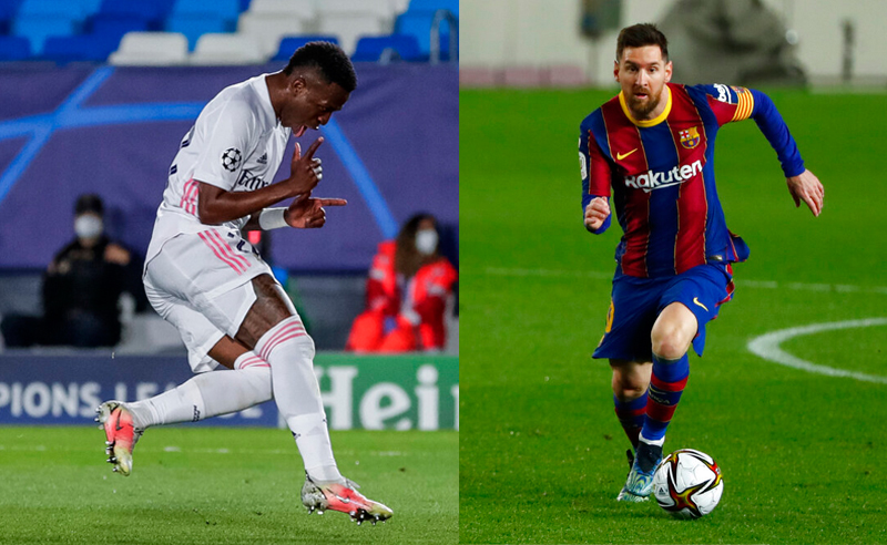 Vinicius Jr Real Madrid Messi Barcelona