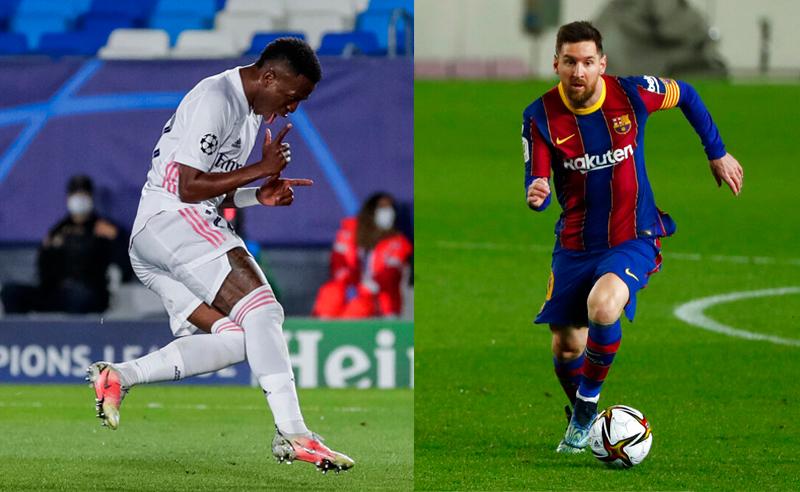 Vinicius Jr Real Madrid Messi Barcelona8Abr21