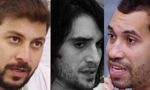 Caio, Fiuk e Gilberto BBB21 19 de Abril 2021 Paredão